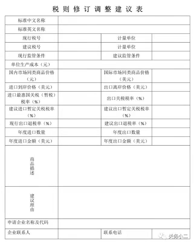 海关税政调研
